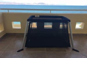 Phil and Teds Travel Crib in Greece