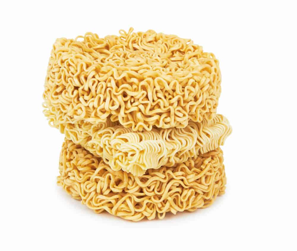 Dry ramen noodles are a good representation of what the Newton crib mattress looks like on the inside.