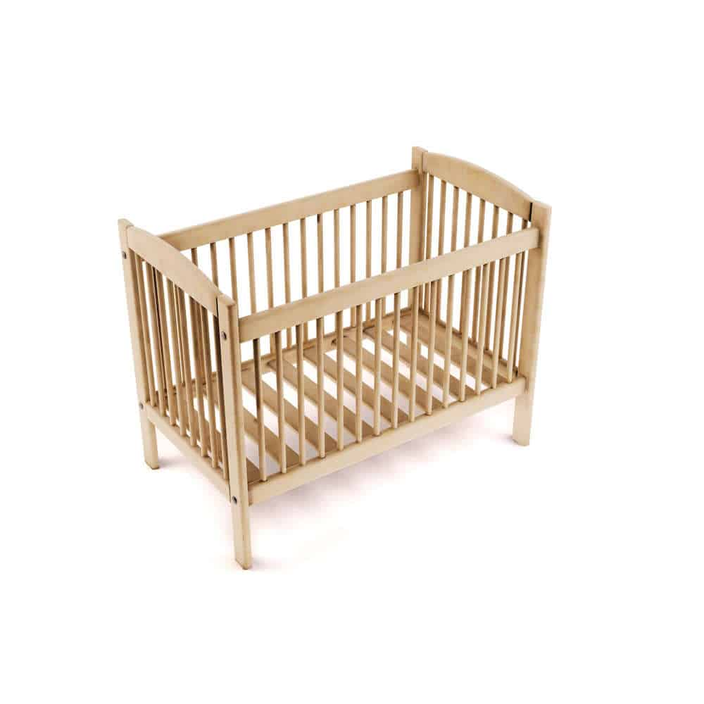 A solid wood crib with a non toxic finish is a non toxic crib - solid wood crib on isolated white background